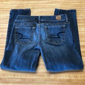 AEO artist crop jeans size 6